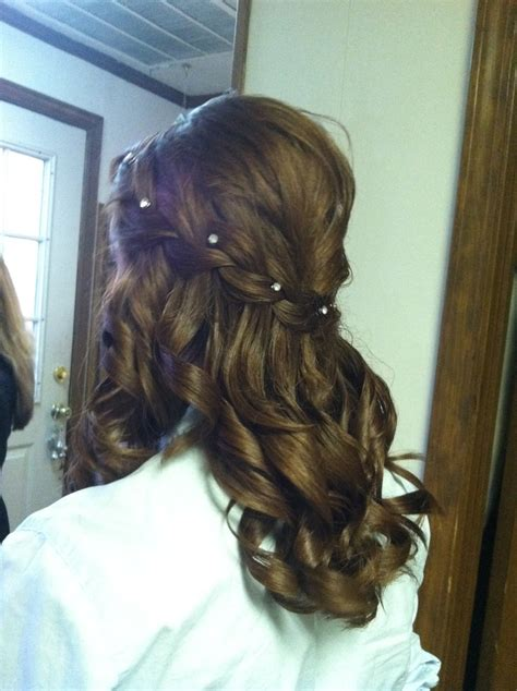 braids for beauty pageants waterfall braid with teasing on the crown for height that
