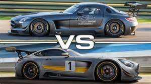Mercedes Sls Gt3 Mercedes Amg Sls Gt3 Vs Mercedes Amg Gt3