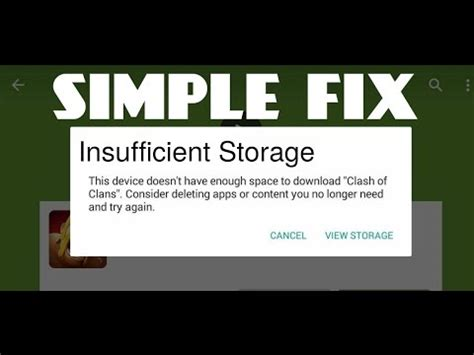insufficient storage android fix insufficient storage available android fix