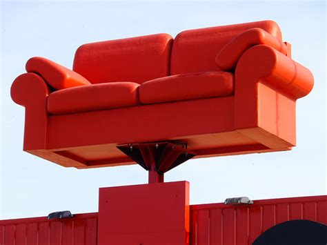 big red sofa big red sofa this is the roof top mascot of quot world of