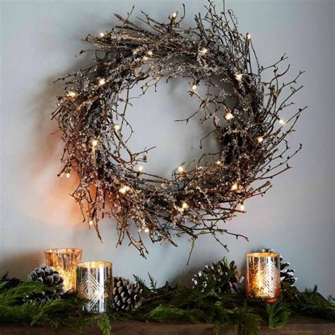 luxury garland with lights 25 best ideas about twig wreath on twig