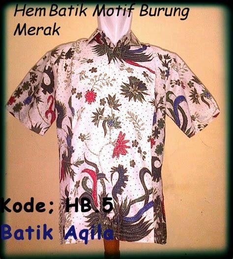 Hem Batik Wayang Ganda Biru Pekalongan baju batik pria batik aneka batik baju batik kaos batik batik sarimbit seragam batik