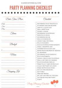 printable party planning checklist easy event ideas