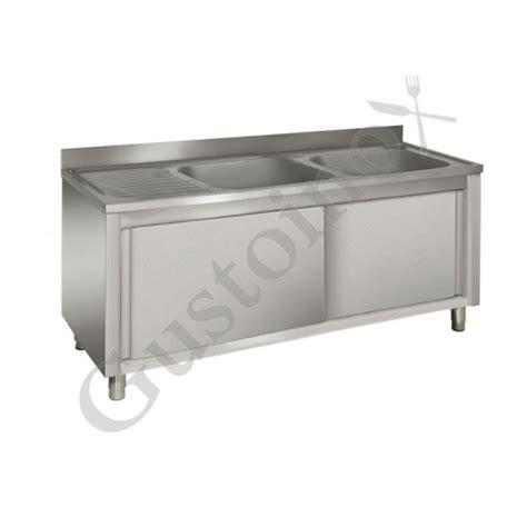 lavelli professionali lavelli armadiati acciaio inox professionali 2 vasche