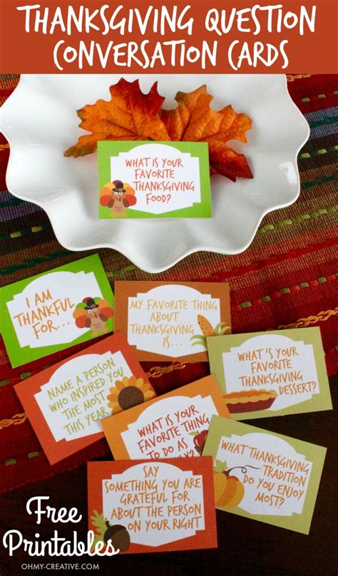 printable thanksgiving conversation cards thanksgiving conversation starters free printables oh my