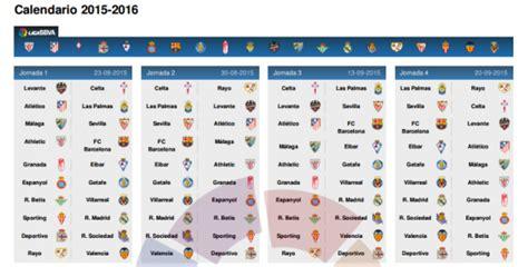 Calendrier Liga Espagnole 2017 Calendrier Complet Liga Bbva 2015 2016 Et Date Du Clasico