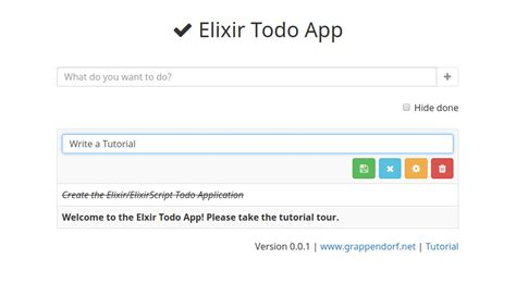 elm tutorial github elixir todo app grappendorf net