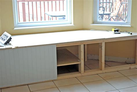 how to make window bench how to build a window seat with storage at the picket fence