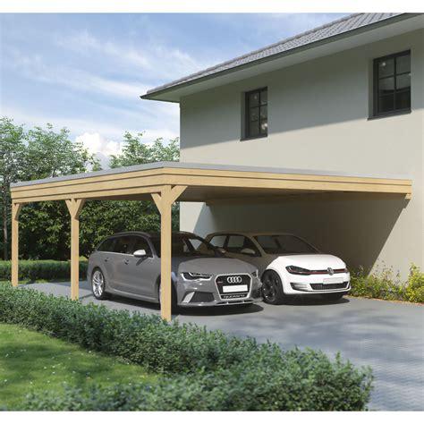 leimholz carport carport flachdach leimholz holz 6x8 m 600x800 cm