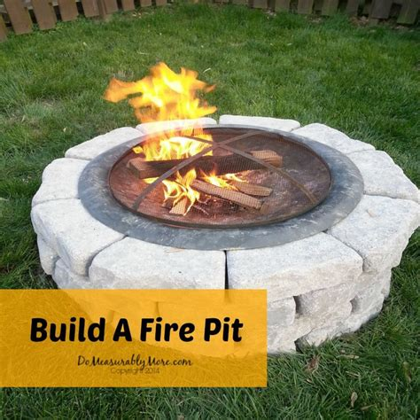build backyard fire pit build a fire pit