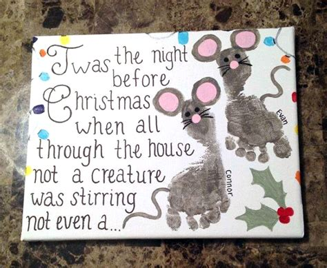 hands on crafts for christmas in the morning before footprint mouse canvas crafty morning