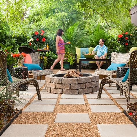 Outdoor Space: Paver Patio with Fire Pit