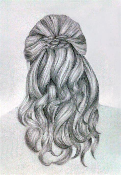 tumblr girl hair drawing hair sketch by kinannti on deviantart