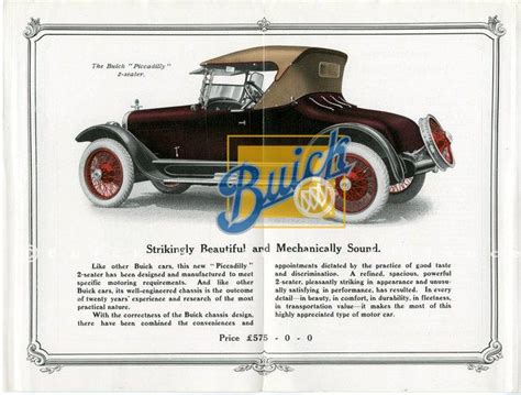 2 seater buick the buick quot piccadilly quot 2 seater sales brochure