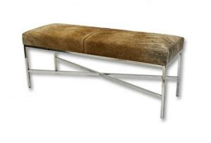 cowhide bench seat set the tone with a cowhide bench access your bars