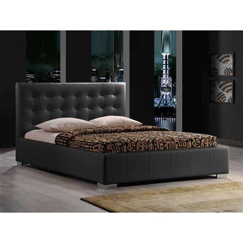 Bed Bigland 160 X 200 lits 2 personnes lit adulte capitonn 233 simili cuir noir