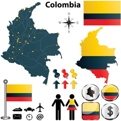 colombia vector map colombia colombia free vector map vector sources