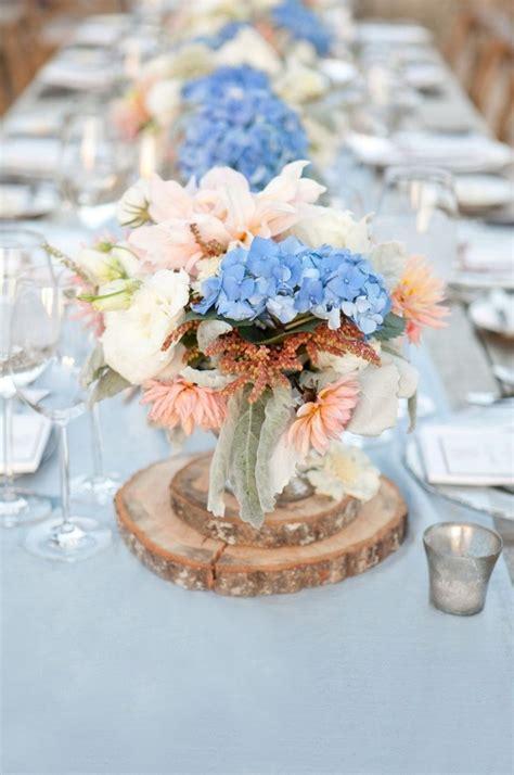 Tischdeko Hochzeit Hellblau by Tischdeko Mit Hortensien Edle Hochzeitsdeko Mit Blumen