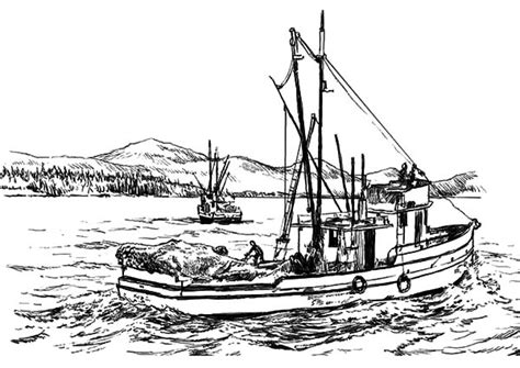 Coloring Pages Of Fishing Boats by Fishing Boat Coloring Pages Recreational Grig3 Org
