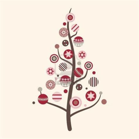 whimsical outline art modern christmas tree clip art