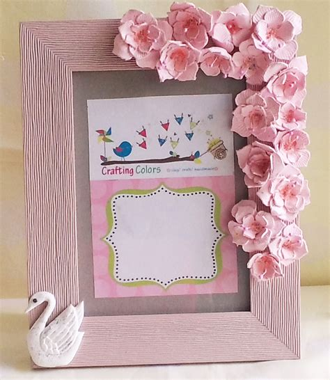 How To Make Handmade Frames For Pictures - handmade photo frame photo frames craft