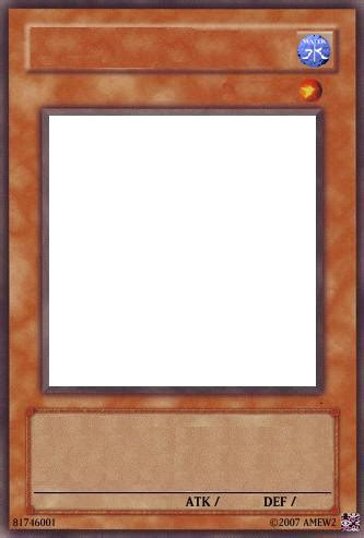 yugioh anime card template yugioh card template water by raccoon on deviantart