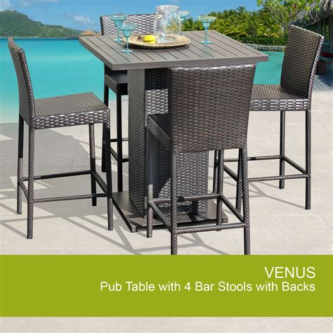 outdoor bar table set outdoor pub table set pub table with bar stools