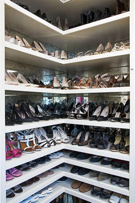 amazing corner shoe shelf with casement windows next to