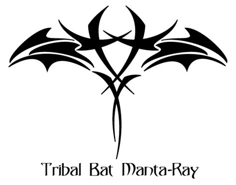 bat tribal tattoo tribal bat manta by jluuiss on deviantart
