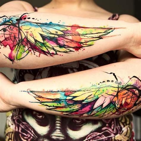 watercolor tattoo wings best 25 small wing tattoos ideas on small