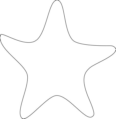 template of starfish clipart starfish outline