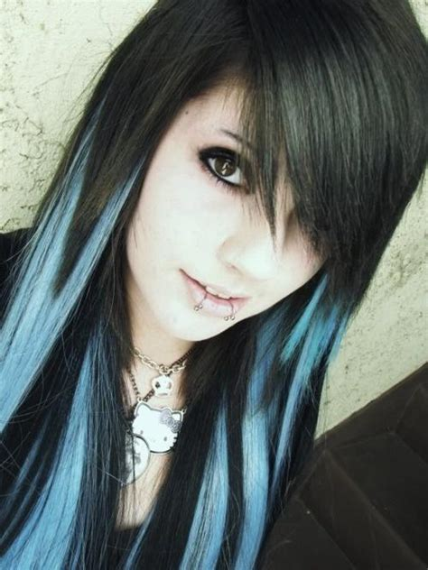 ethnic hair coloring black and blue hair color