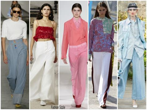 pintrest fashion trends spring spring 2018 runway fashion trend flared pants
