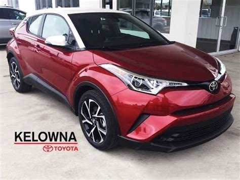 2018 toyota c hr ruby flare pearl w/white roof youtube