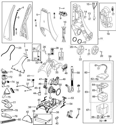 parts of a rug bissell model 7901 repair manual universityfile