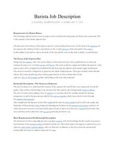barista job description job resume barista resume tips and job description exles starbucks barista resume template