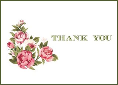 thank you card template with flowers vintage flowers printable thank you cards