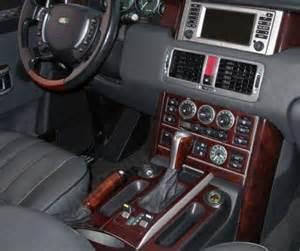 land range rover hse interior burl wood dash trim kit set