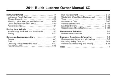 electric and cars manual 2011 buick lucerne user handbook service manual downloadable manual for a 2011 buick lucerne 2011 buick lucerne toledo owner
