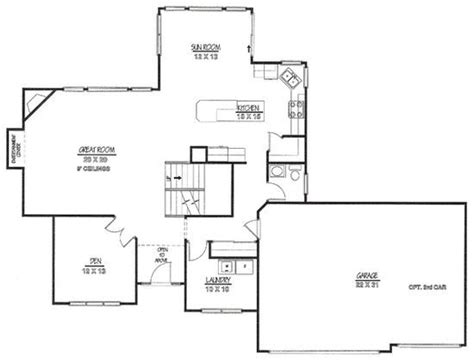 vehicle floor plan floor plan with 3 car garage floor plans pinterest