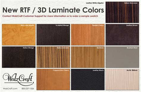 kitchen cabinets laminate colors new rtf 3d laminate colors walzcraft srf3