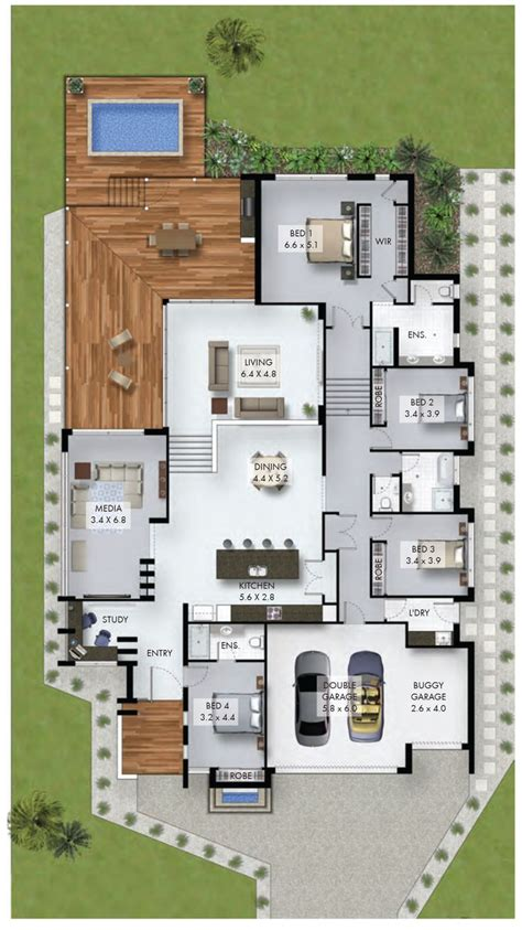 Non Open Floor Plans | 25 best ideas about 4 bedroom house plans on pinterest