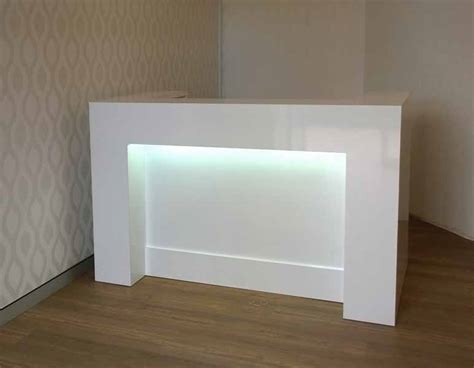 White Reception Desk Wembley Reception Desk Black Or White Gloss