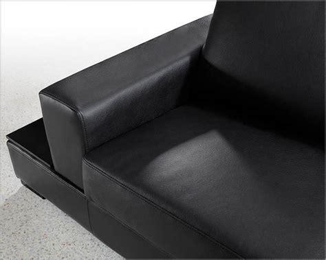 Soft Leather Sofa Set Modern Soft Black Leather Sectional Sofa Set 44l0693