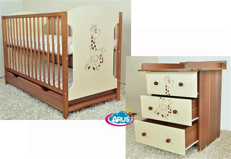 Baby Cot With Drawers by Baby Furniture Set Miki Cot With Drawer Chest With