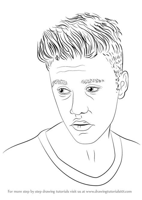 Justin Bieber Drawing Step By Step