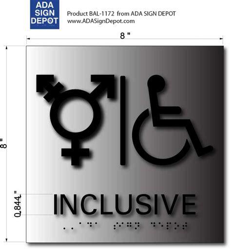 trans inclusive bathroom signs inclusive symbol ada accessible bathroom signs adasigndepot