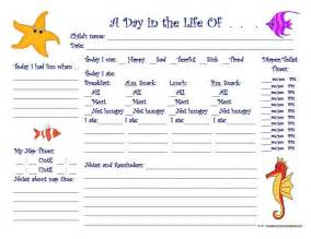 Toddler Daily Report Template » Home Design 2017