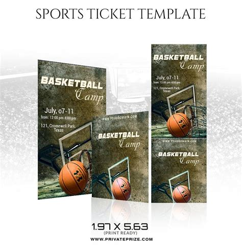 Basketball Sports Ticket Template Sports Ticket Template Photoshop