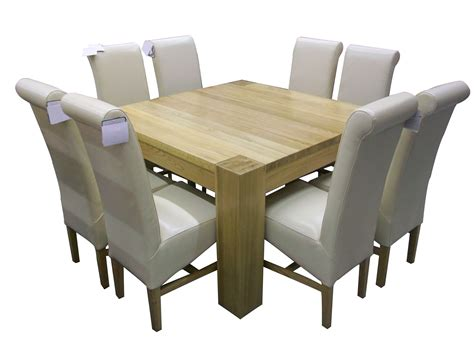 Square Dining Room Table For 8 Small Custom Diy Square Wood Dining Room Table Design With White Leather Seats 8 With High Back